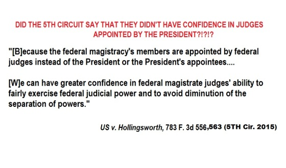 FIFTH CIRCUIT VIEW OF PRESIDENTIAL JUDICAL APPOINTMENTS